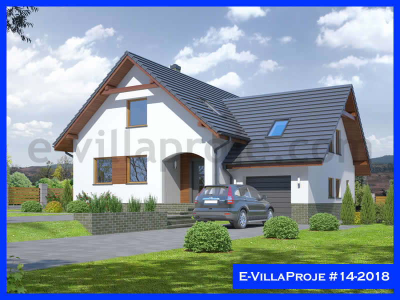Ev Villa Proje #14 – 2018, 2 katlı, 4 yatak odalı, 259 m2