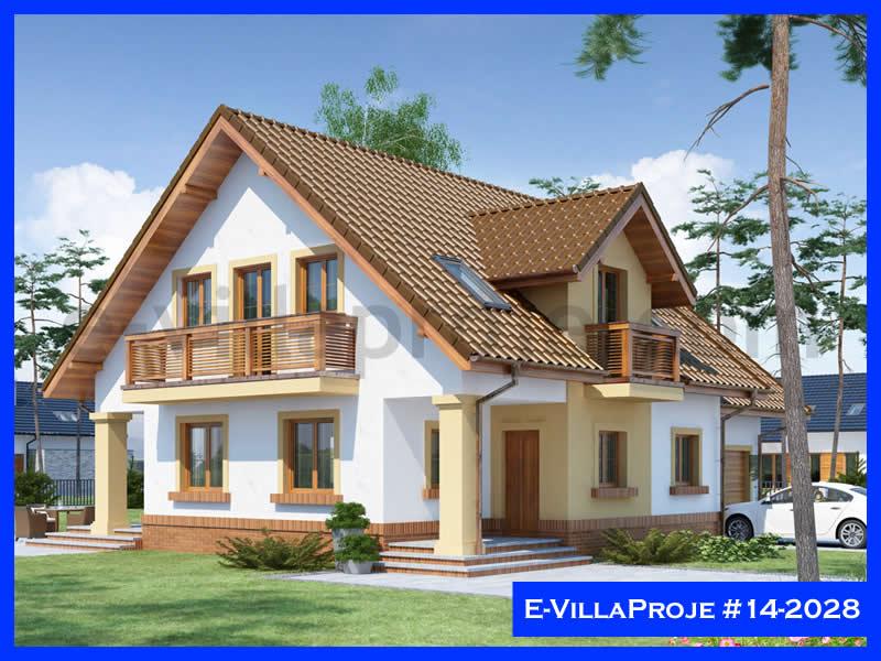 Ev Villa Proje #14 – 2028, 2 katlı, 3 yatak odalı, 2 garajlı, 197 m2