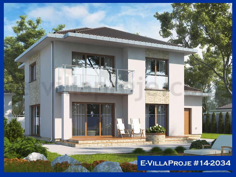 Ev Villa Proje #14 – 2034, 2 katlı, 4 yatak odalı, 1 garajlı, 266 m2