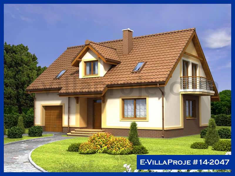 Ev Villa Proje #14 – 2047, 2 katlı, 4 yatak odalı, 1 garajlı, 220 m2