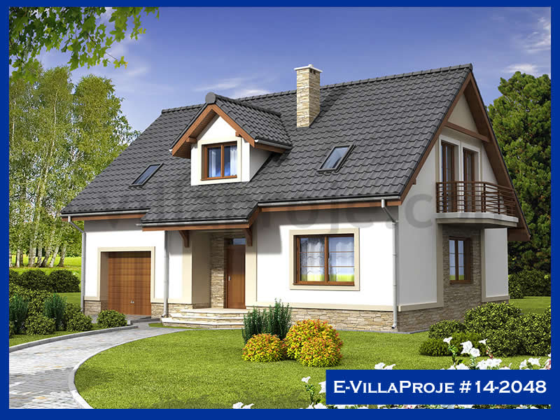 Ev Villa Proje #14 – 2048, 2 katlı, 4 yatak odalı, 1 garajlı, 220 m2