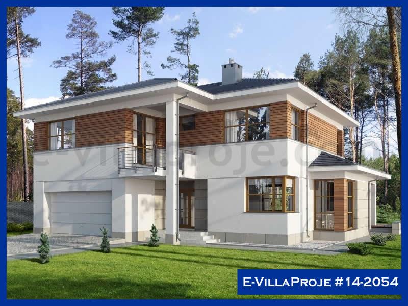 Ev Villa Proje #14 – 2054, 2 katlı, 4 yatak odalı, 2 garajlı, 210 m2