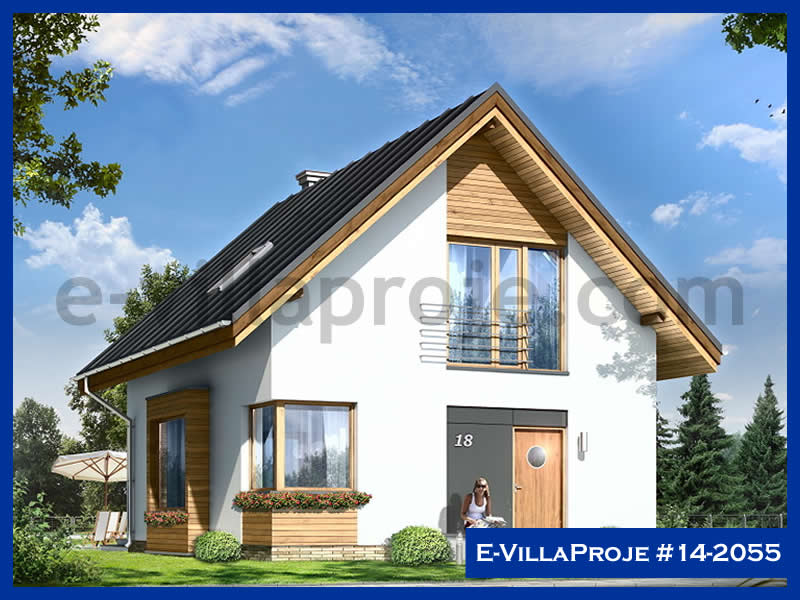 Ev Villa Proje #14 – 2055, 2 katlı, 3 yatak odalı, 113 m2