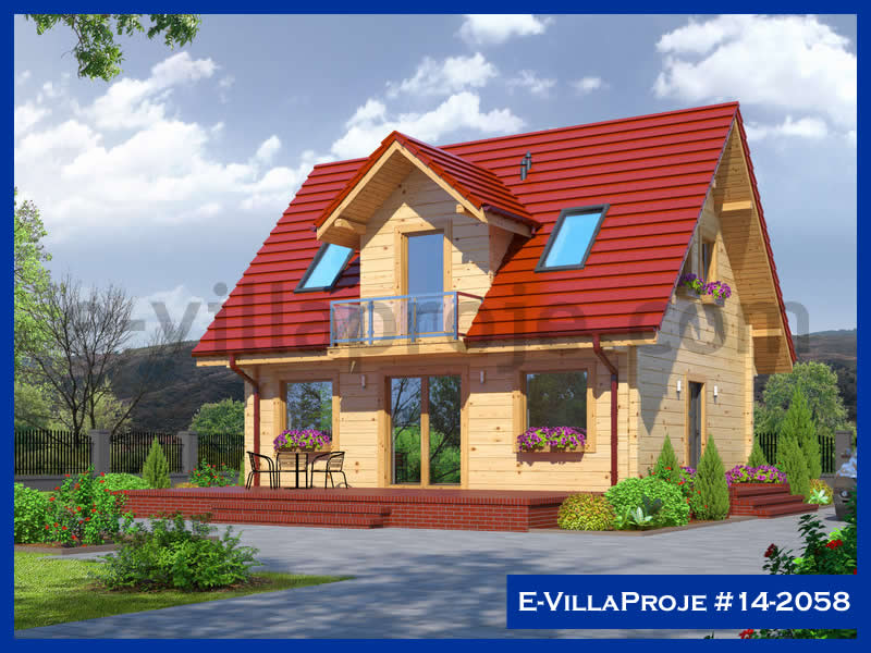 Ev Villa Proje #14 – 2058, 2 katlı, 3 yatak odalı, 134 m2