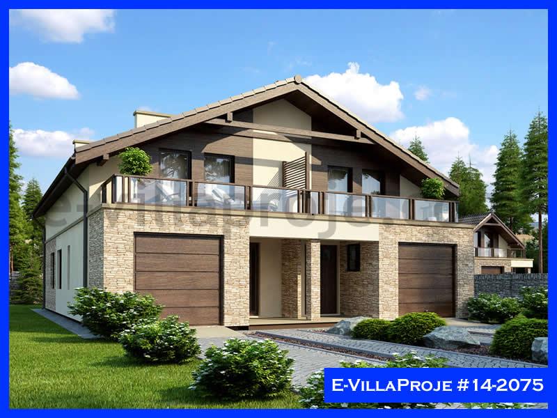 E-VillaProje #14-2075, 2 katlı, 3 yatak odalı, 1 garajlı, 161 m2