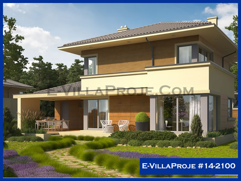 Ev Villa Proje #14 – 2100, 2 katlı, 3 yatak odalı, 1 garajlı, 193 m2