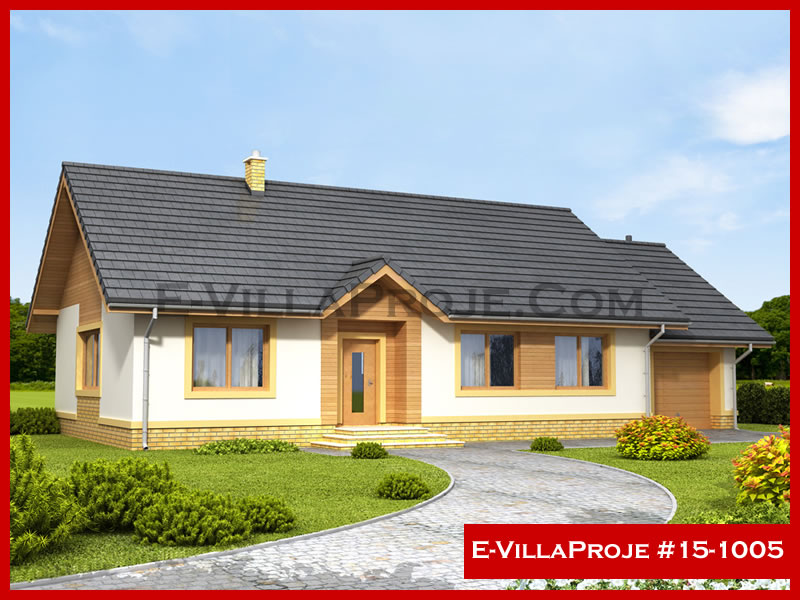 E-VillaProje #15-1005, 1 katlı, 3 yatak odalı, 1 garajlı, 128 m2