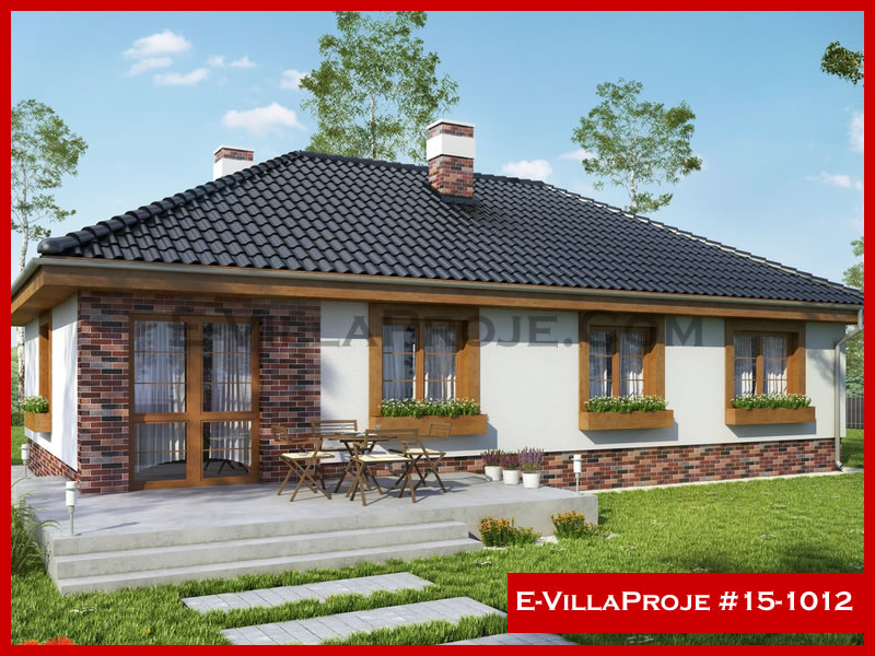E-VillaProje #15-1012, 1 katlı, 3 yatak odalı, 130 m2