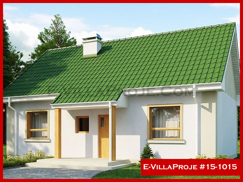 E-VillaProje #15-1015, 1 katlı, 2 yatak odalı, 88 m2