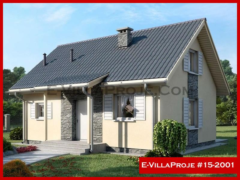 E-VillaProje #15-2001, 2 katlı, 3 yatak odalı, 93 m2