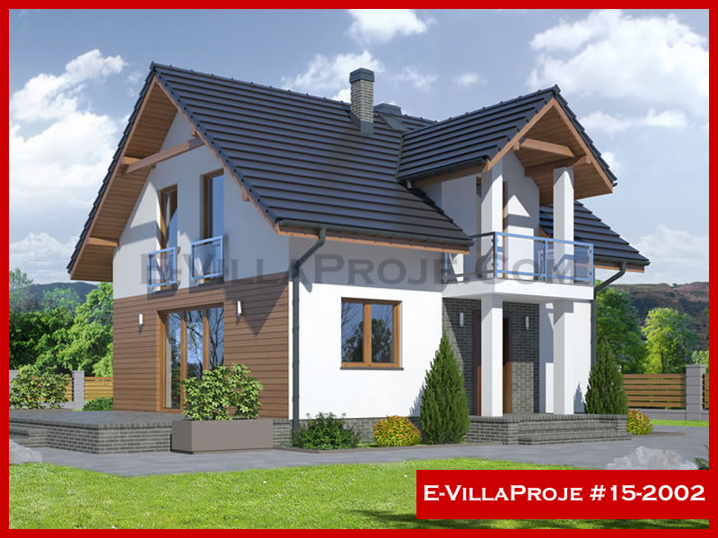 E-VillaProje #15-2002, 2 katlı, 3 yatak odalı, 139 m2