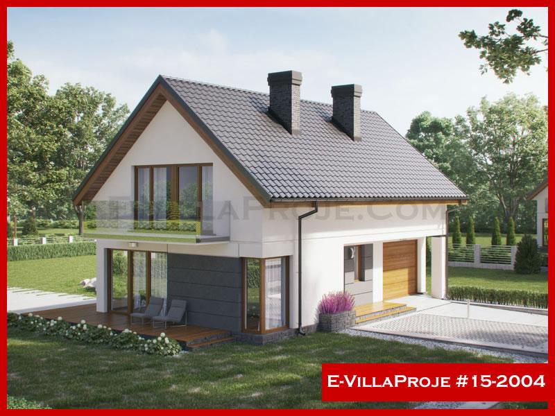 E-VillaProje #15-2004, 2 katlı, 3 yatak odalı, 1 garajlı, 174 m2