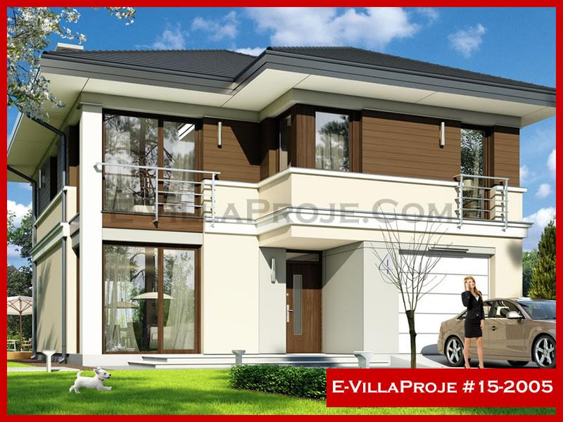 E-VillaProje #15-2005, 2 katlı, 3 yatak odalı, 1 garajlı, 184 m2