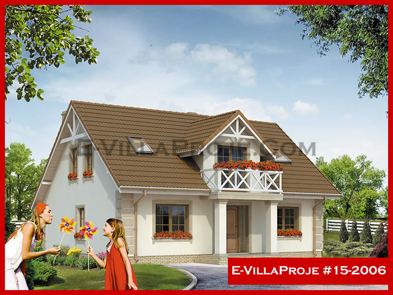 E-VillaProje #15-2006, 2 katlı, 3 yatak odalı, 207 m2