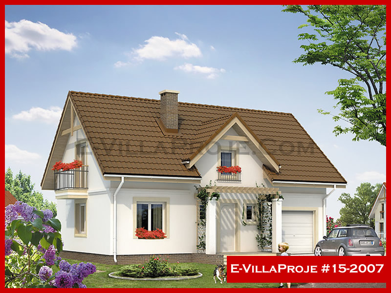 E-VillaProje #15-2007, 2 katlı, 3 yatak odalı, 197 m2