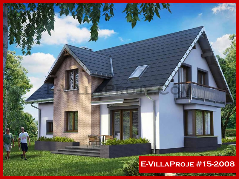 E-VillaProje #15-2008, 2 katlı, 4 yatak odalı, 1 garajlı, 270 m2