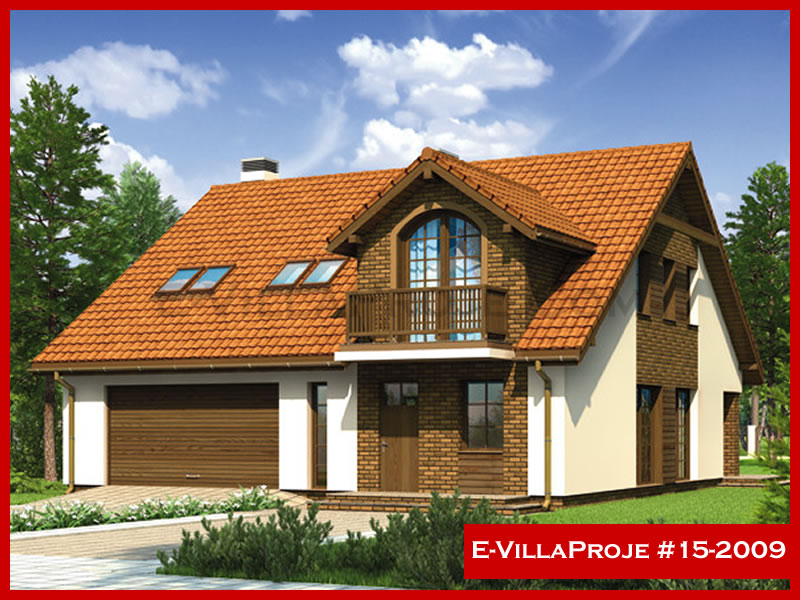 E-VillaProje #15-2009, 2 katlı, 5 yatak odalı, 2 garajlı, 235 m2