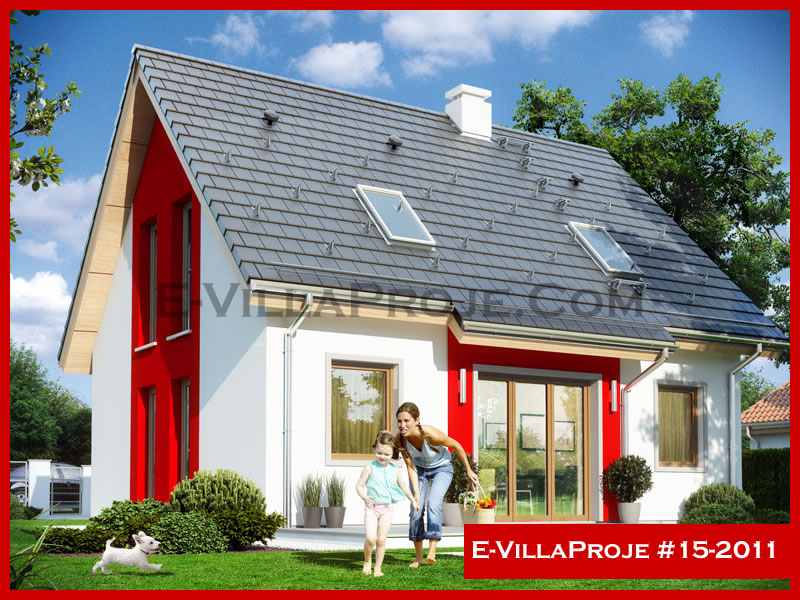 E-VillaProje #15-2011, 2 katlı, 3 yatak odalı, 154 m2