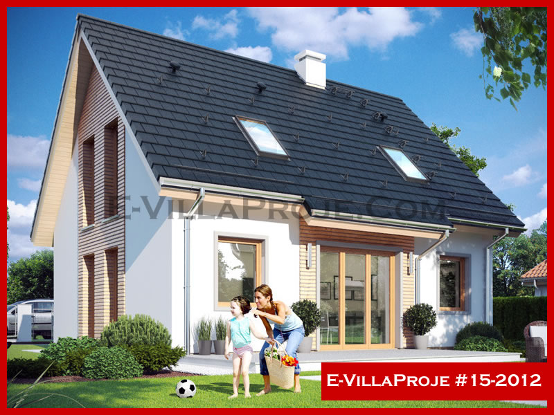 E-VillaProje #15-2012, 2 katlı, 3 yatak odalı, 0 garajlı, 154 m2