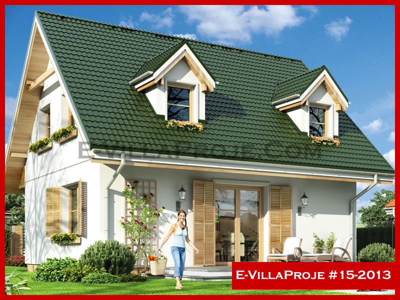 E-VillaProje #15-2013, 2 katlı, 3 yatak odalı, 127 m2