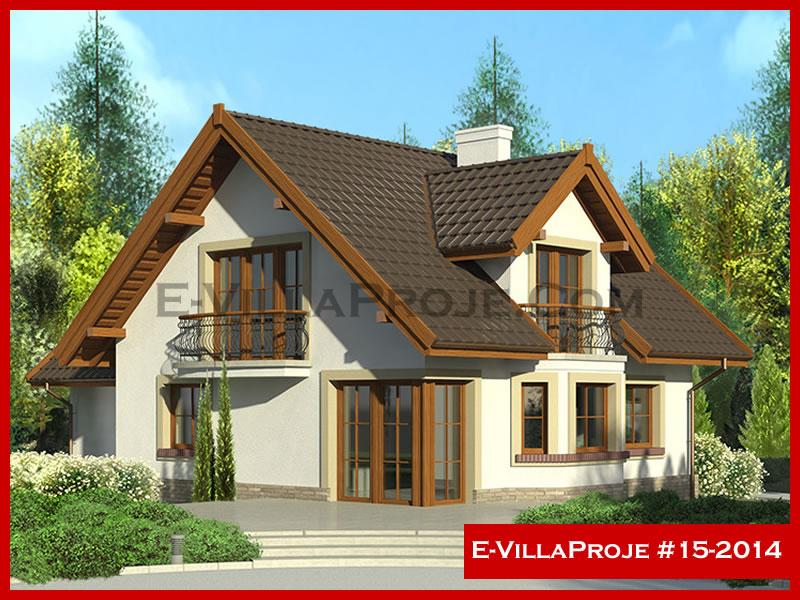 E-VillaProje #15-2014, 2 katlı, 5 yatak odalı, 2 garajlı, 225 m2