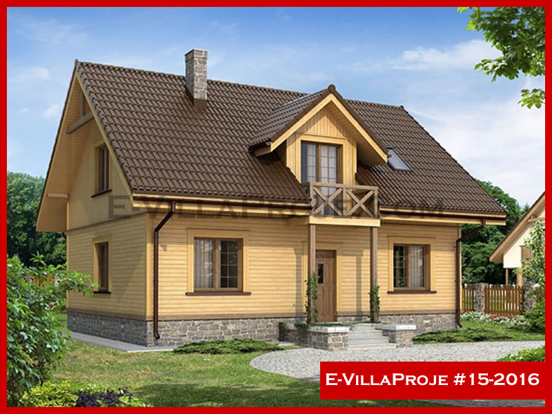 E-VillaProje #15-2016, 2 katlı, 4 yatak odalı, 0 garajlı, 167 m2