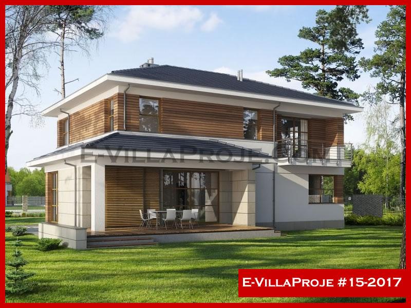 E-VillaProje #15-2017, 2 katlı, 3 yatak odalı, 2 garajlı, 280 m2