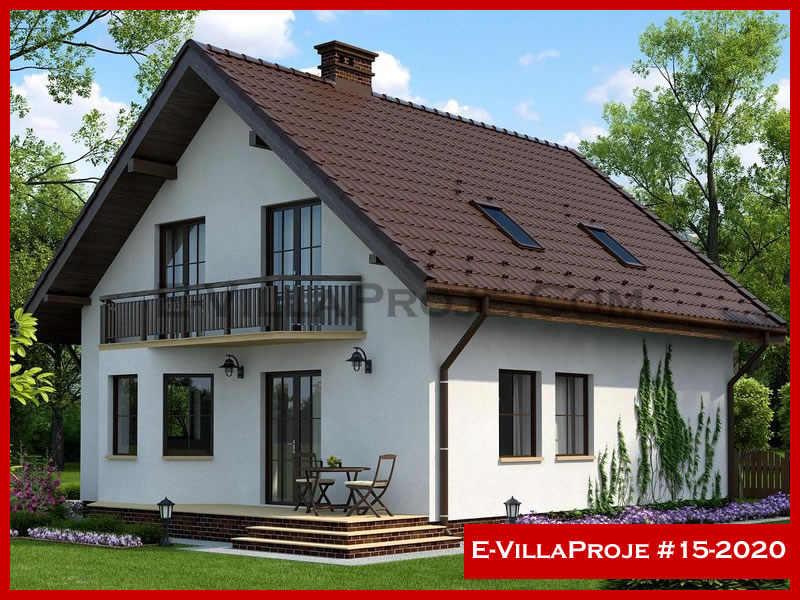 E-VillaProje #15-2020, 2 katlı, 3 yatak odalı, 205 m2