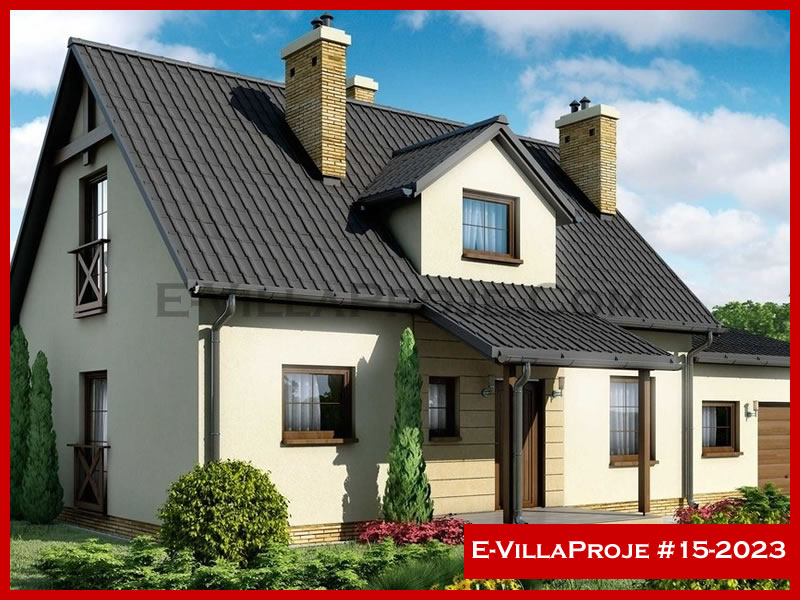 E-VillaProje #15-2023, 2 katlı, 3 yatak odalı, 155 m2
