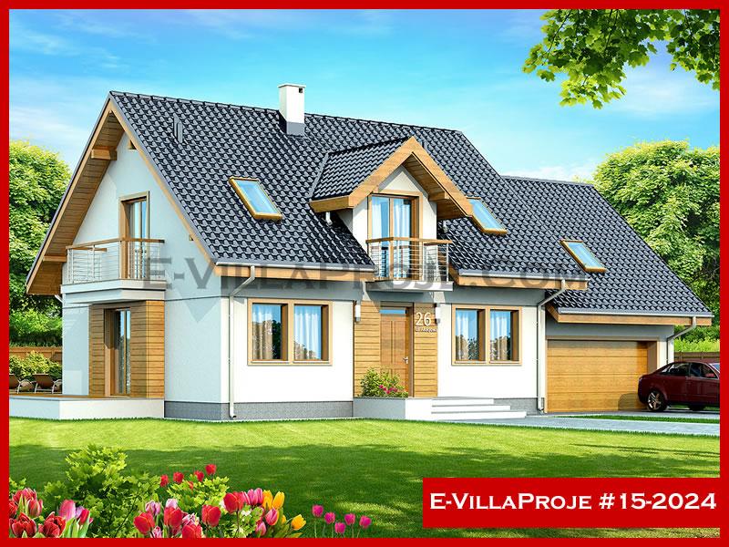 E-VillaProje #15-2024, 2 katlı, 3 yatak odalı, 1 garajlı, 249 m2