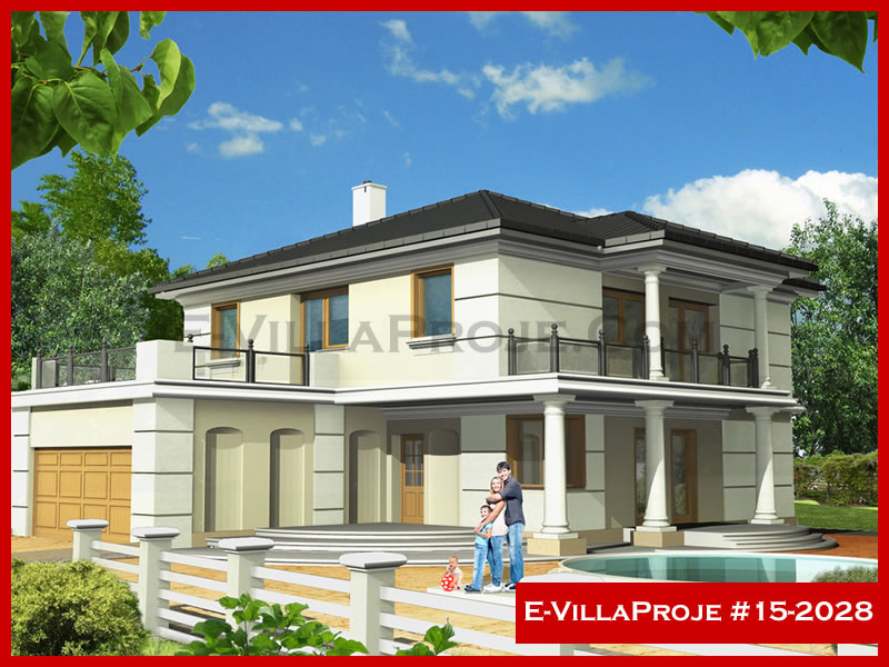 Ev Villa Proje #15 – 2028, 2 katlı, 5 yatak odalı, 260 m2