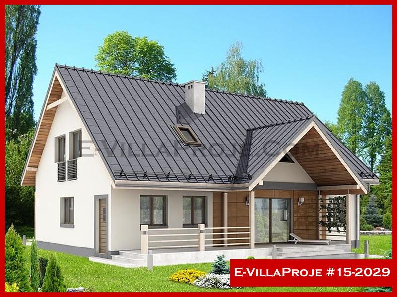 Ev Villa Proje #15 – 2029, 2 katlı, 4 yatak odalı, 2 garajlı, 210 m2