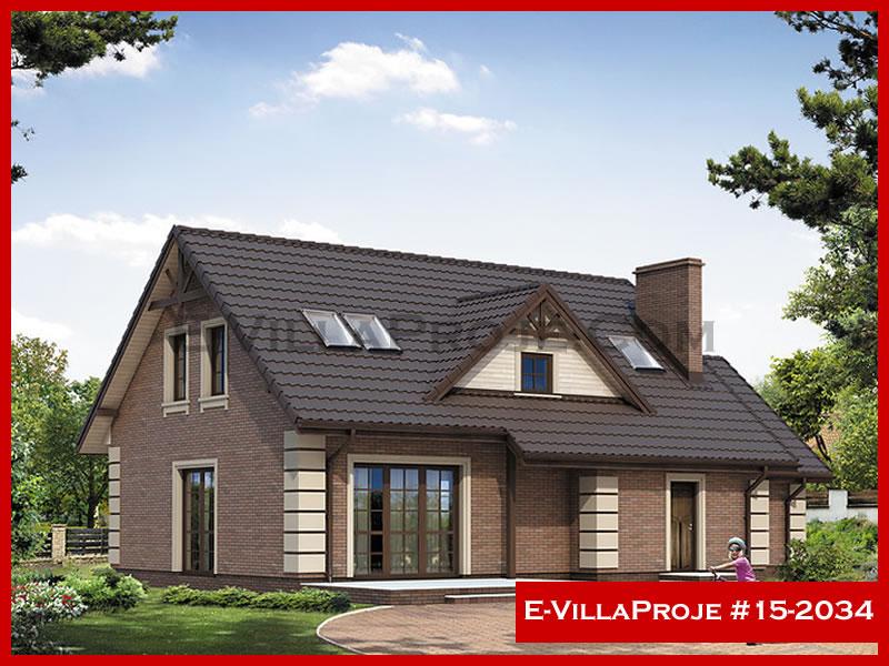 Ev Villa Proje #15 – 2034, 2 katlı, 4 yatak odalı, 1 garajlı, 212 m2