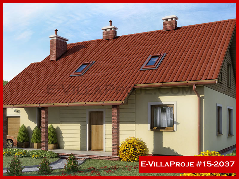 Ev Villa Proje #15 – 2037, 2 katlı, 3 yatak odalı, 1 garajlı, 240 m2