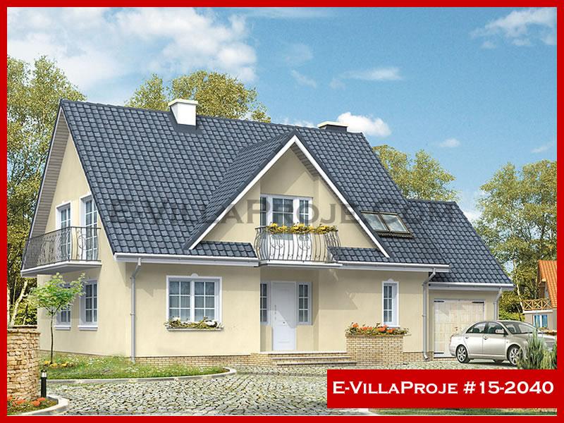 Ev Villa Proje #15 – 2040, 2 katlı, 4 yatak odalı, 1 garajlı, 237 m2