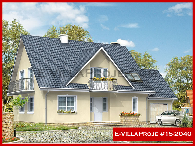 Ev Villa Proje #15 – 2040, 2 katlı, 4 yatak odalı, 237 m2