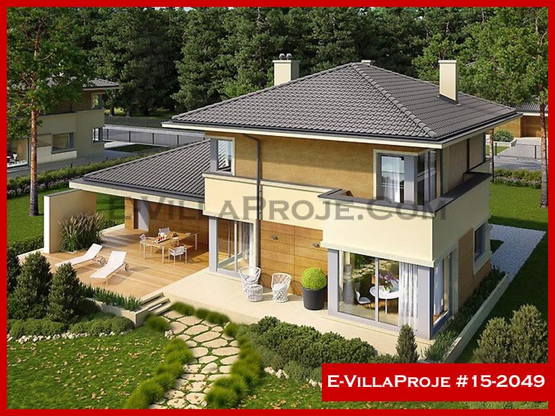 Ev Villa Proje #15 – 2049, 2 katlı, 3 yatak odalı, 2 garajlı, 186 m2