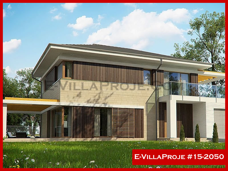 Ev Villa Proje #15 – 2050, 2 katlı, 4 yatak odalı, 188 m2