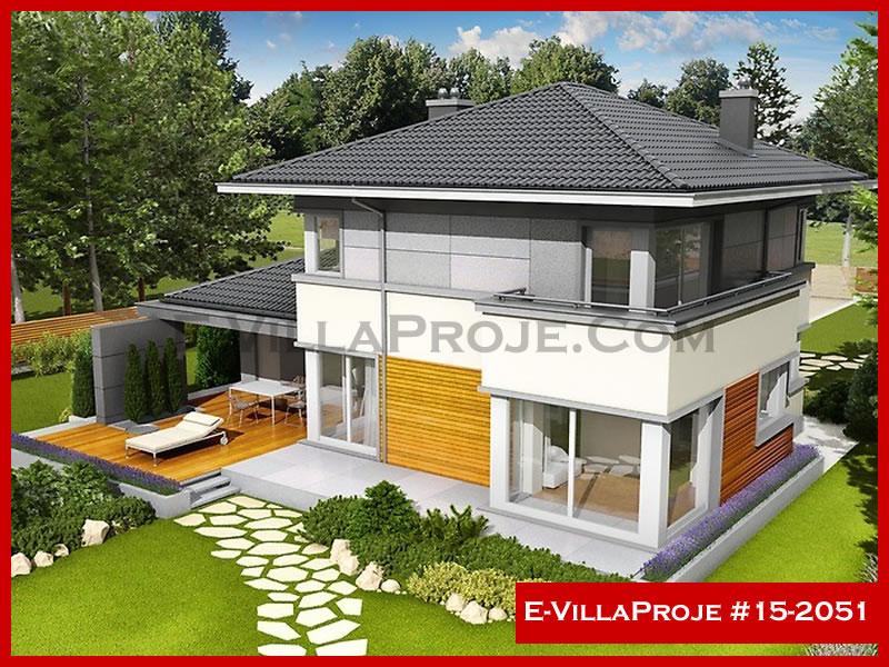 Ev Villa Proje #15 – 2051, 2 katlı, 3 yatak odalı, 1 garajlı, 215 m2