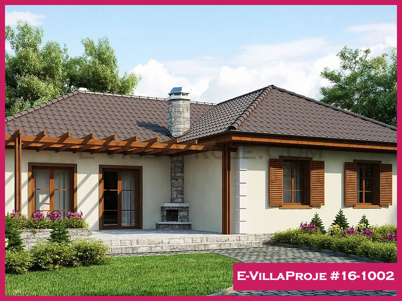 Ev Villa Proje #16-1002, 1 katlı, 3 yatak odalı, 125 m2