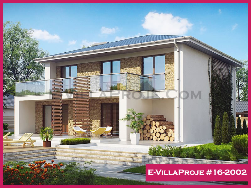 Ev Villa Proje #16-2002, 2 katlı, 4 yatak odalı, 175 m2