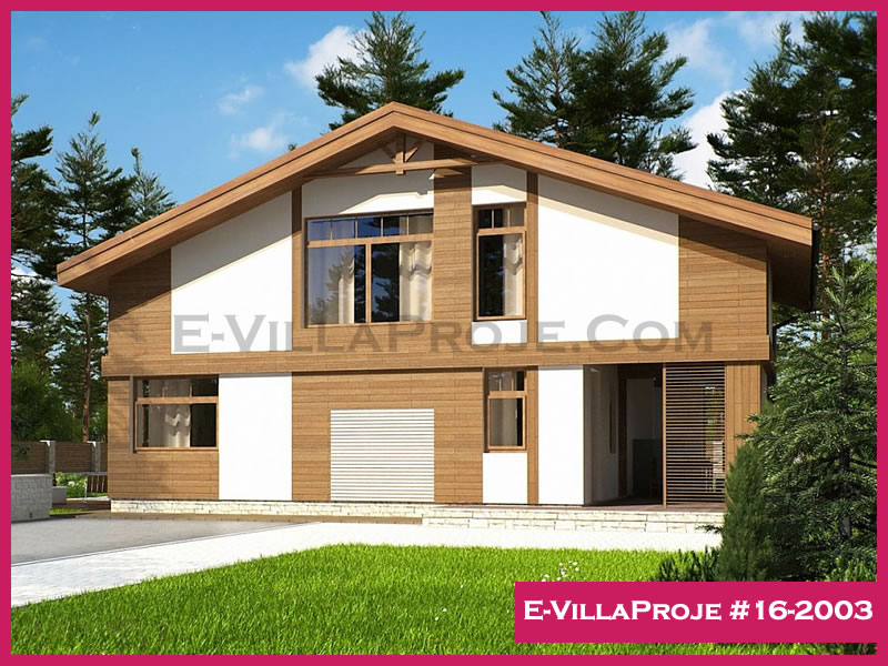 Ev Villa Proje #16-2003, 2 katlı, 2 yatak odalı, 133 m2