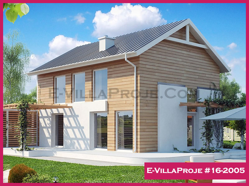 Ev Villa Proje #16-2005, 2 katlı, 4 yatak odalı, 160 m2