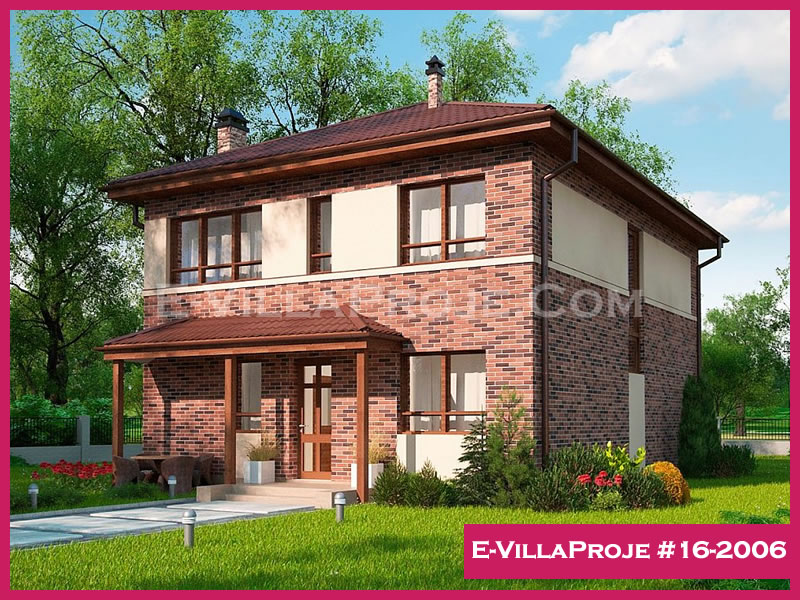 Ev Villa Proje #16-2006, 2 katlı, 5 yatak odalı, 185 m2