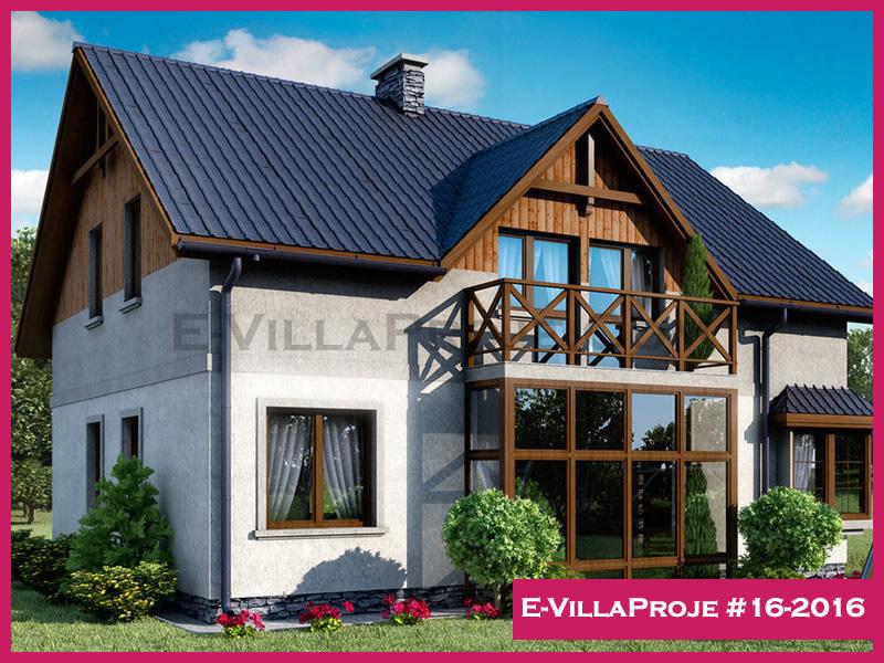 Ev Villa Proje #16-2016, 2 katlı, 4 yatak odalı, 195 m2