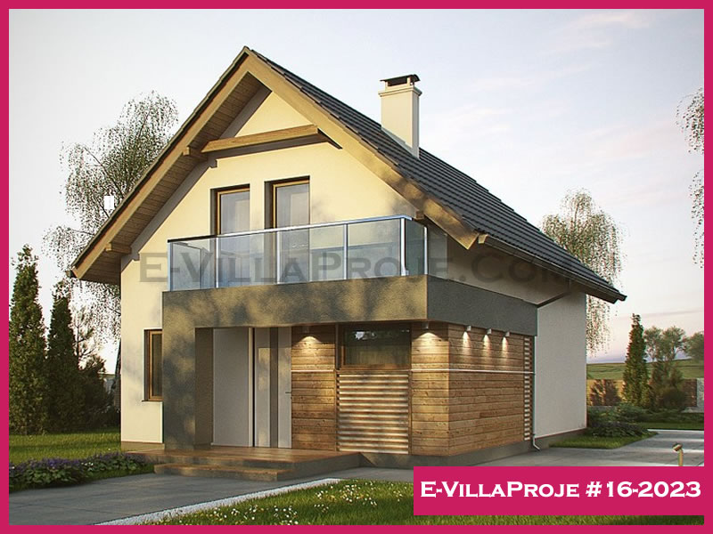 E-VillaProje #16-2023, 2 katlı, 3 yatak odalı, 143 m2