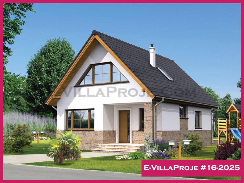 E-VillaProje #16-2025, 2 katlı, 3 yatak odalı, 167 m2