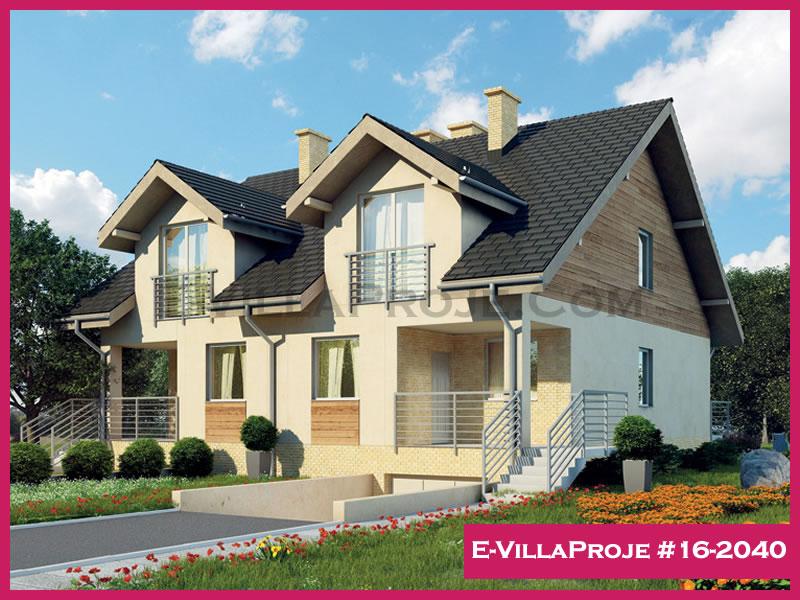 Ev Villa Proje #16 – 2040, 2 katlı, 3 yatak odalı, 155 m2