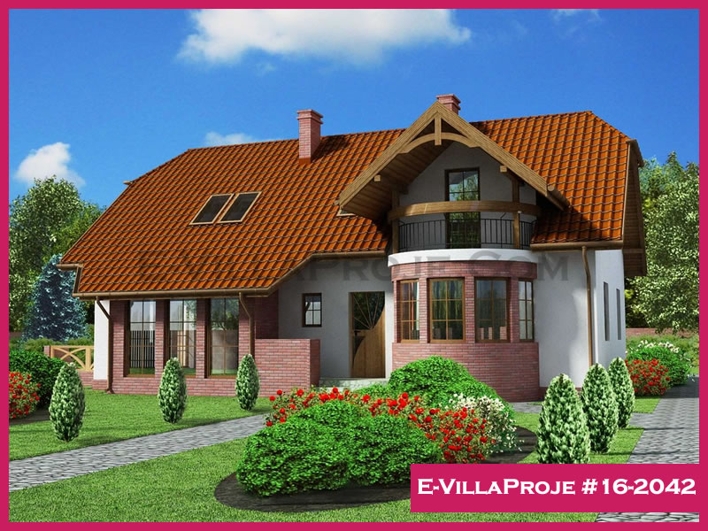 Ev Villa Proje #16 – 2042, 2 katlı, 4 yatak odalı, 277 m2