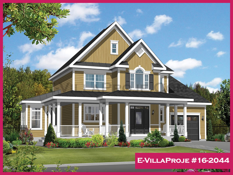 Ev Villa Proje #16 – 2044, 2 katlı, 3 yatak odalı, 176 m2